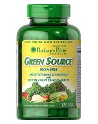 Green Source® Iron Free Multivitamin & Minerals - 120 Caplets
