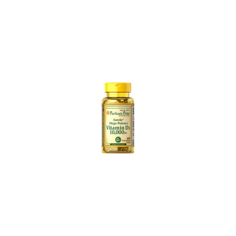 Vitamin D3 10,000 IU - 100 Softgels