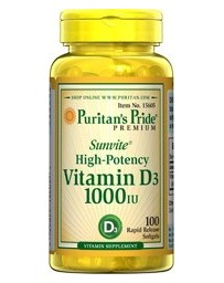 Vitamin D3 1000IU - 100 Softgels