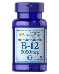 Vitamin B-12 Methylcobalamin 5000mcg - 30 Microlozenges