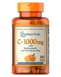 Vitamin C-1000mg with Bioflavonoids & Rose Hips - 100 Caplets