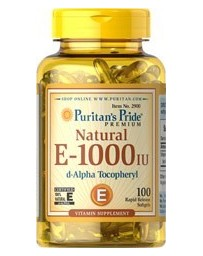 Vitamin E 1000 IU - 100% natural - 100 Softgels