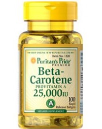 Beta Carotene 25,000 IU - 100 Softgels