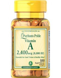 Vitamin A 8.000 IU - 100 Softgels