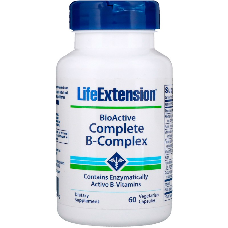 BioActive Complete B-Complex - 60 Vegetable Capsules