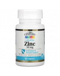 Zinc Chelated, 50 mg - 60 Tablets