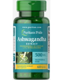 Ashwagandha Standardized Extract 500 mg - 60 Capsules
