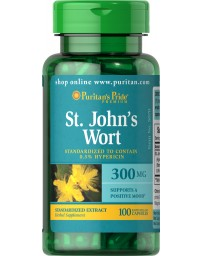 St. John's Wort Standardized Extract 300 mg - 100 Capsules