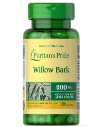 Willow Bark 400 mg - 100 Capsules
